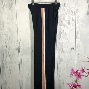 Zara Navy Blue Trouser Pants/Side Bands Sz Sm NWT